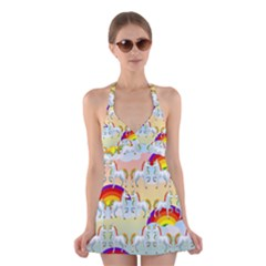 Rainbow pony  Halter Swimsuit Dress
