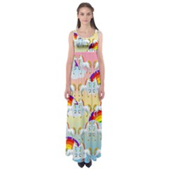 Rainbow pony  Empire Waist Maxi Dress