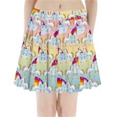 Rainbow pony  Pleated Mini Skirt
