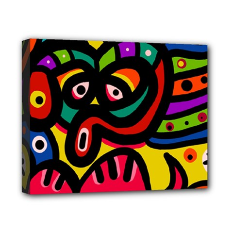 A Seamless Crazy Face Doodle Pattern Canvas 10  X 8