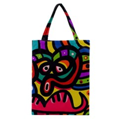 A Seamless Crazy Face Doodle Pattern Classic Tote Bag