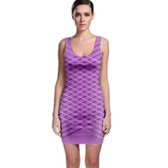 Abstract Lines Background Sleeveless Bodycon Dress