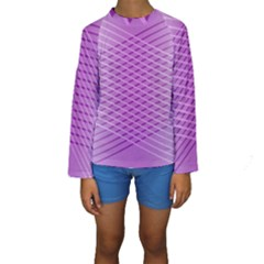 Abstract Lines Background Kids  Long Sleeve Swimwear