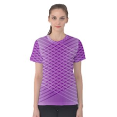 Abstract Lines Background Women s Cotton Tee