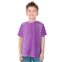 Abstract Lines Background Kids  Cotton Tee
