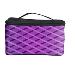 Abstract Lines Background Cosmetic Storage Case