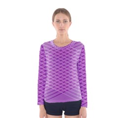 Abstract Lines Background Women s Long Sleeve Tee
