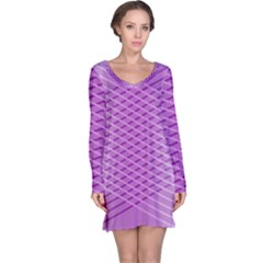 Abstract Lines Background Long Sleeve Nightdress