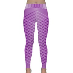 Abstract Lines Background Classic Yoga Leggings