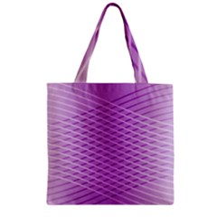 Abstract Lines Background Zipper Grocery Tote Bag