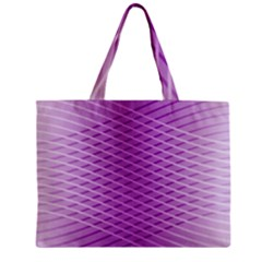 Abstract Lines Background Zipper Mini Tote Bag