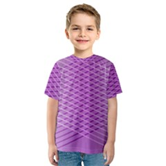 Abstract Lines Background Kids  Sport Mesh Tee