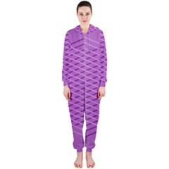 Abstract Lines Background Hooded Jumpsuit (Ladies)