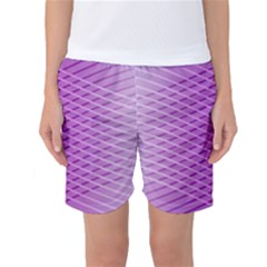 Abstract Lines Background Women s Basketball Shorts