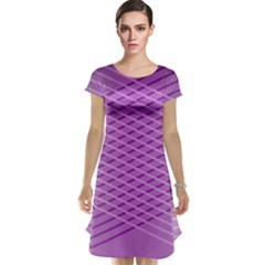 Abstract Lines Background Cap Sleeve Nightdress