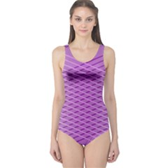 Abstract Lines Background One Piece Swimsuit