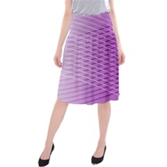 Abstract Lines Background Midi Beach Skirt