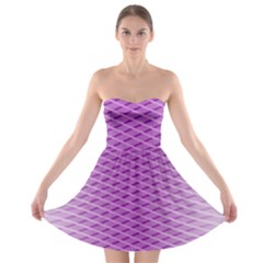Abstract Lines Background Strapless Bra Top Dress