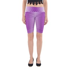 Abstract Lines Background Yoga Cropped Leggings