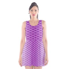Abstract Lines Background Scoop Neck Skater Dress