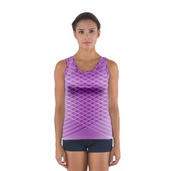Abstract Lines Background Women s Sport Tank Top