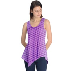 Abstract Lines Background Sleeveless Tunic