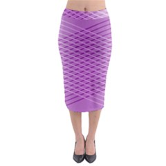 Abstract Lines Background Midi Pencil Skirt