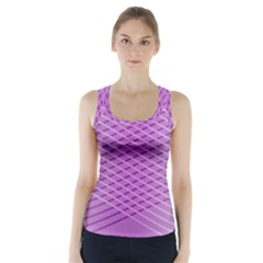 Abstract Lines Background Racer Back Sports Top