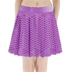 Abstract Lines Background Pleated Mini Skirt