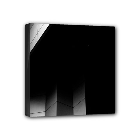 Wall White Black Abstract Mini Canvas 4  x 4