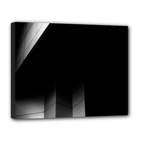 Wall White Black Abstract Canvas 14  X 11
