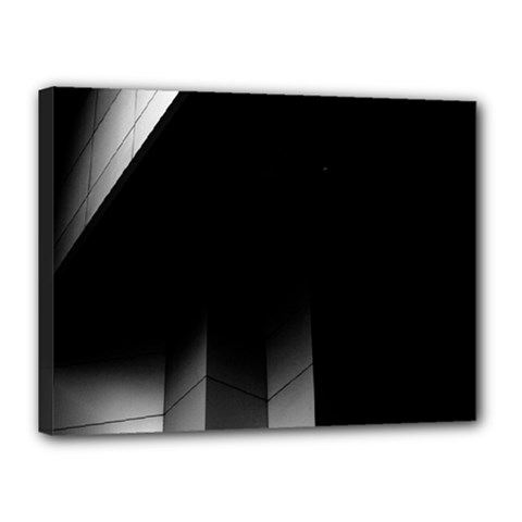 Wall White Black Abstract Canvas 16  X 12