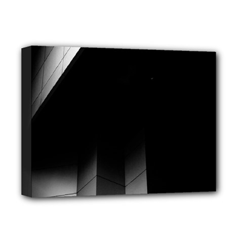 Wall White Black Abstract Deluxe Canvas 16  X 12