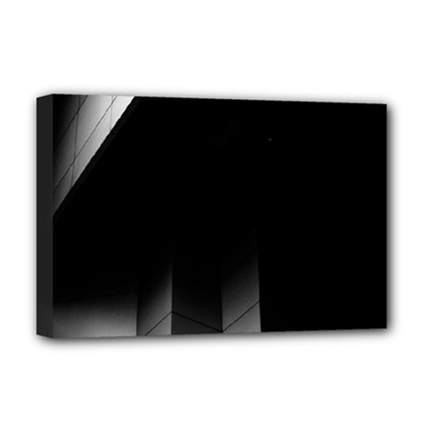 Wall White Black Abstract Deluxe Canvas 18  x 12