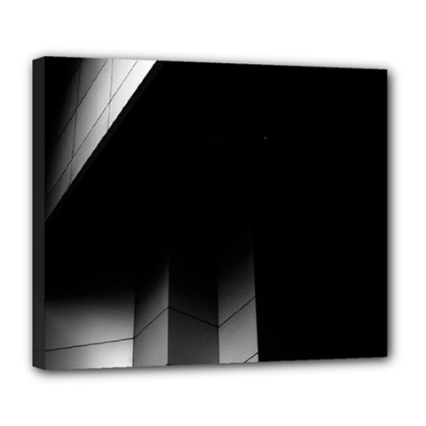 Wall White Black Abstract Deluxe Canvas 24  X 20