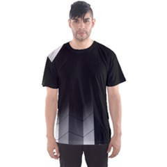 Wall White Black Abstract Men s Sport Mesh Tee