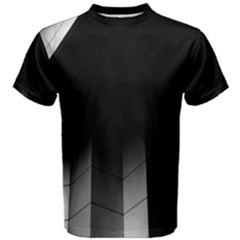 Wall White Black Abstract Men s Cotton Tee