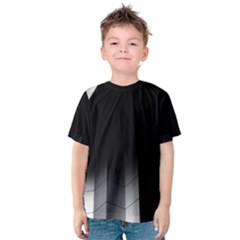 Wall White Black Abstract Kids  Cotton Tee