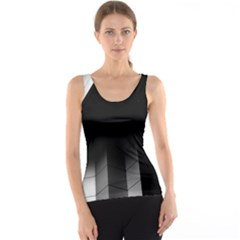 Wall White Black Abstract Tank Top