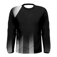 Wall White Black Abstract Men s Long Sleeve Tee