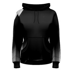 Wall White Black Abstract Women s Pullover Hoodie