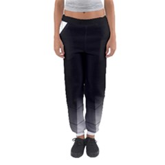 Wall White Black Abstract Women s Jogger Sweatpants