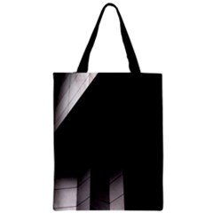 Wall White Black Abstract Zipper Classic Tote Bag