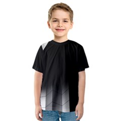 Wall White Black Abstract Kids  Sport Mesh Tee