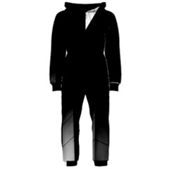 Wall White Black Abstract Hooded Jumpsuit (ladies)