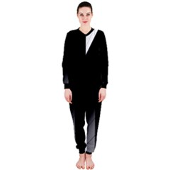 Wall White Black Abstract Onepiece Jumpsuit (ladies)