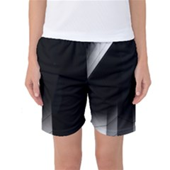 Wall White Black Abstract Women s Basketball Shorts
