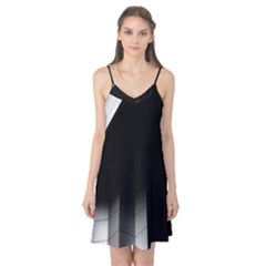 Wall White Black Abstract Camis Nightgown