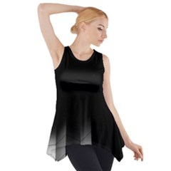Wall White Black Abstract Side Drop Tank Tunic