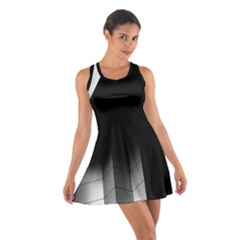 Wall White Black Abstract Cotton Racerback Dress